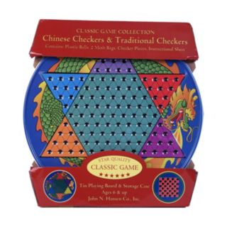 Chinese Checkers & Traditional Checkers Tin by John N. Hansen Co.