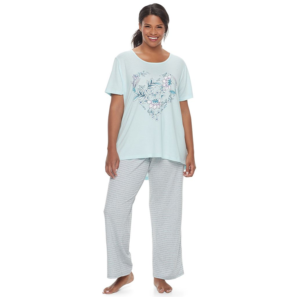 Plus Size Croft & Barrow® Pajamas: Naptime Swing Tee & Pants PJ Set