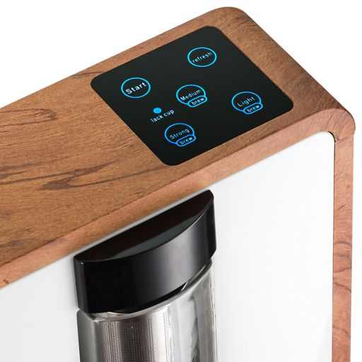 Gourmia Tea-Square 4-Cup Personal Craft Loose Leaf Tea Brewer