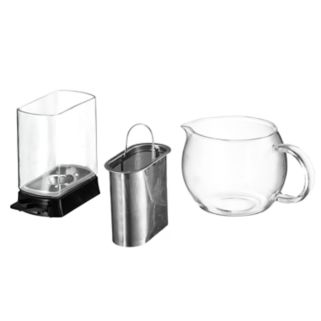 Gourmia Tea-Square 4-Cup Personal Craft Loose Leaf Tea Brewer