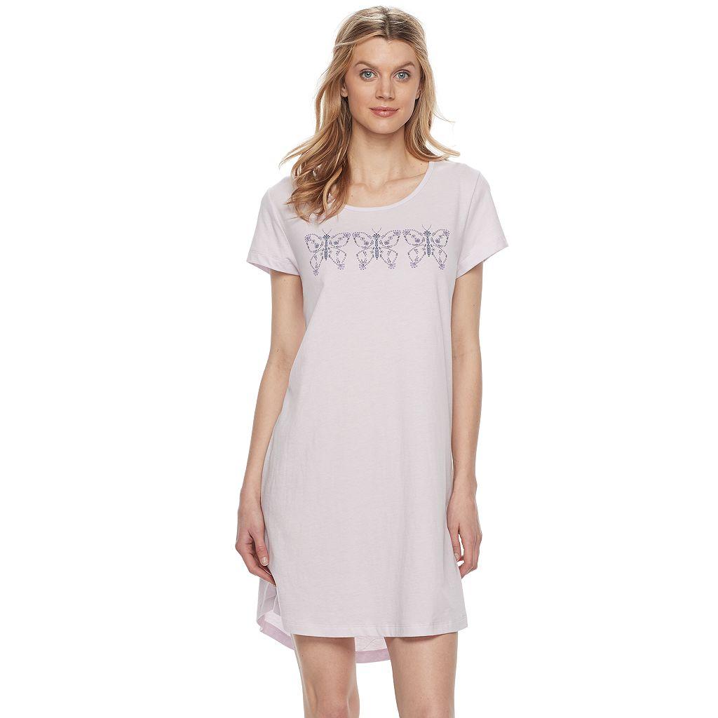 Women's Croft & Barrow® Pajamas: Naptime Short Sleeve Sleep Shirt