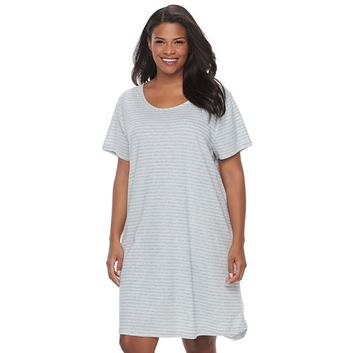 8fc5dd06e7 Plus Size Croft   Barrow® Pajamas  Naptime Short Sleeve Sleep Shirt