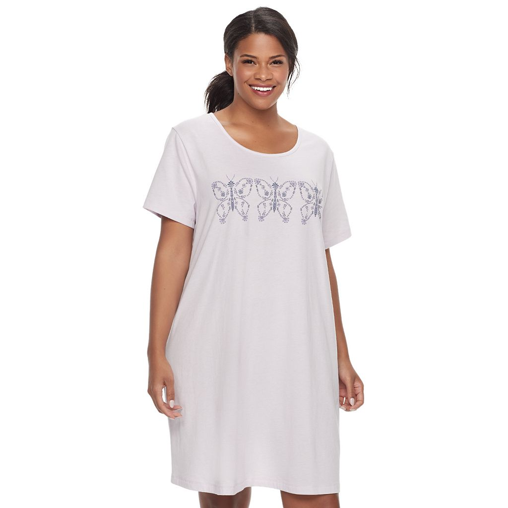 Plus Size Croft & Barrow® Pajamas: Naptime Short Sleeve Sleep Shirt