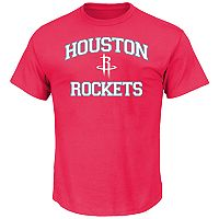 Big & Tall Majestic Houston Rockets Heart and Soul II Tee