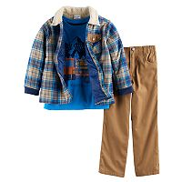 Boys 4-7 Nannette 3-pc. Plaid Jacket,
