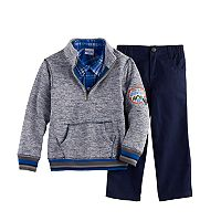 Boys 4-7 Nannette 3-pc. Sweater, Plaid Shirt & Pants Set