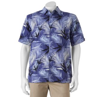 Men's Havanera Classic-Fit Palm Frond Button-Down Shirt