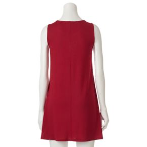Juniors' About A Girl Knit Lace-Up Dress