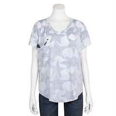Juniors' Grayson Threads Relaxed Star Graphic Tee