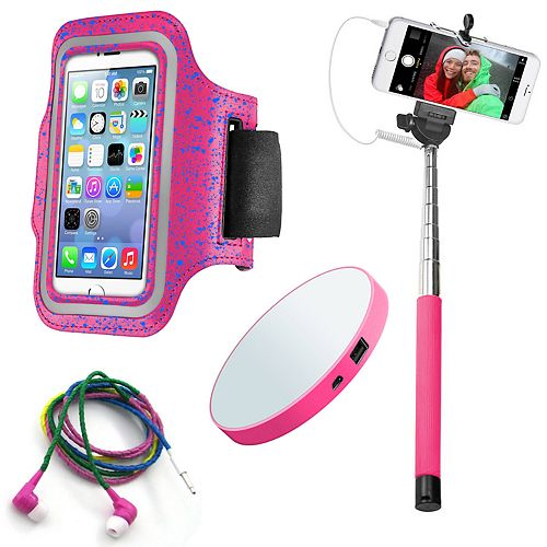 Gems Pink Power Fitness Accessory Bundle
