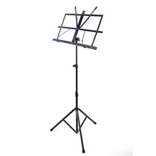 Reprize Accessories Compact Folding Music Stand with Carrying Case