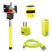 Gems Charger, Speaker, Selfie Stick & Power Bank Travel Bundle