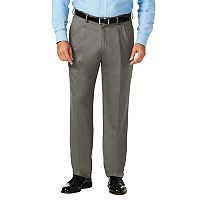 Big & Tall J.M. Haggar Premium Classic-Fit Stretch Sharkskin Pleated Dress Pants