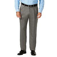 Big & Tall J.M. Haggar Premium Classic-Fit Stretch Sharkskin Pleated Dress Pants