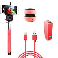 Gems Coral Speaker, Monopod & Power Bank Travel Bundle