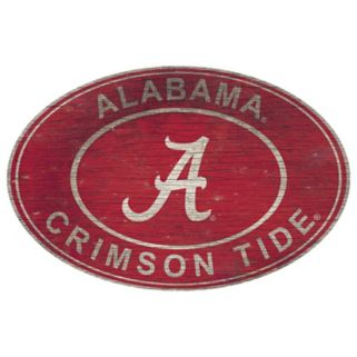Alabama Crimson Tide Heritage Oval Wall Sign