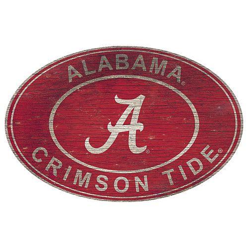 Alabama Crimson Tide Heritage Oval Wall Sign