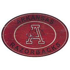 Arkansas Razorbacks Heritage Oval Wall Sign