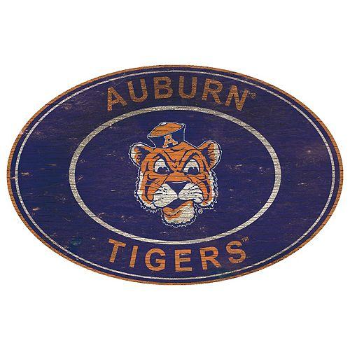 Auburn Tigers Heritage Oval Wall Sign