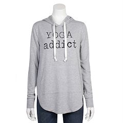 Juniors' Grayson Threads 'Yoga Addict' Graphic Hoodie
