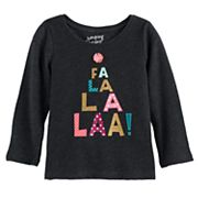 Baby Girl Jumping Beans® Long-Sleeve Slubbed Graphic Tee