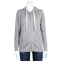 Juniors' Grayson Threads Burnout Zip-Up Hoodie