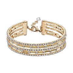 Napier Flexible Multi Row Simulated Crystal Bracelet