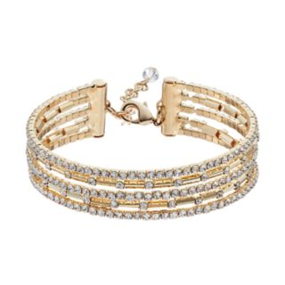 Napier Flexible Multi Row Simulated Crystal Bracelet