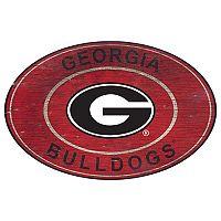 Georgia Bulldogs Heritage Oval Wall Sign