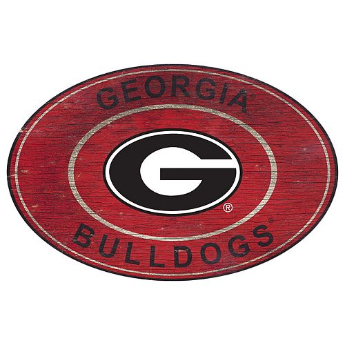 Georgia Bulldogs Heritage Oval Wall Sign
