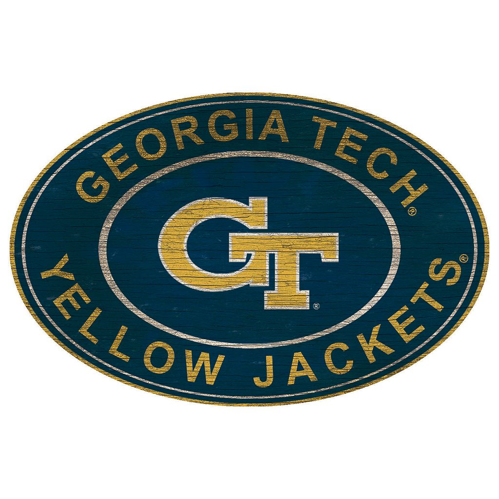 Georgia Tech Yellow Jackets Heritage Oval Wall Sign