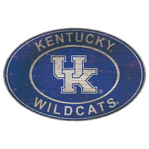 Kentucky Wildcats Heritage Oval Wall Sign