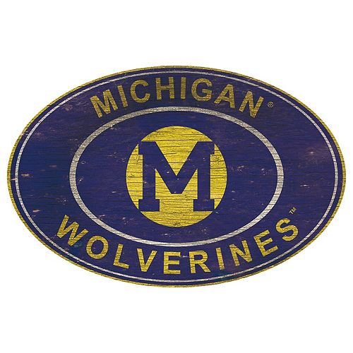 Michigan Wolverines Heritage Oval Wall Sign