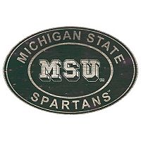 Michigan State Spartans Heritage Oval Wall Sign