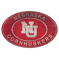Nebraska Cornhuskers Heritage Oval Wall Sign