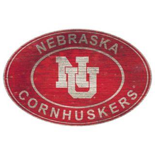Nebraska Cornhuskers Heritage Oval Wall Sign