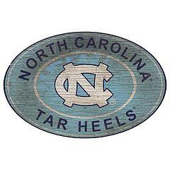 North Carolina Tar Heels Heritage Oval Wall Sign