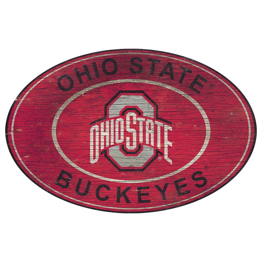 Ohio State Buckeyes Heritage Oval Wall Sign