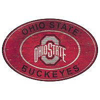 Ohio State Buckeyes Heritage Oval Wall Sign