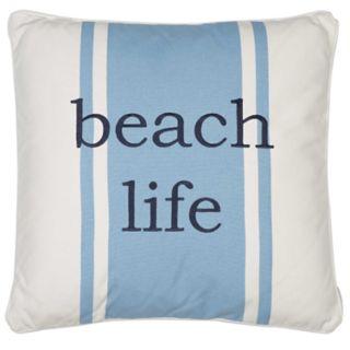 St. Maarten Beach Life Throw Pillow