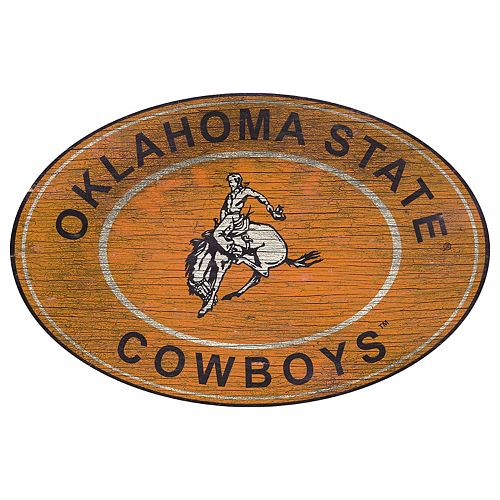 Oklahoma State Cowboys Heritage Oval Wall Sign