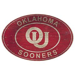 Oklahoma Sooners Heritage Oval Wall Sign