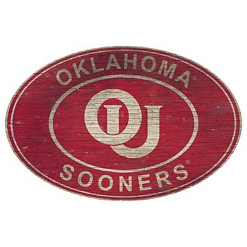 Oklahoma Sooners Heritage Oval Wall Sign