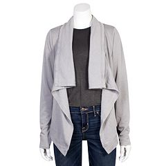 Juniors' Grayson Threads Draped Cardigan