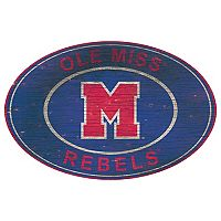 Ole Miss Rebels Heritage Oval Wall Sign