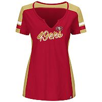 Plus Size Majestic San Francisco 49ers Notched Tee