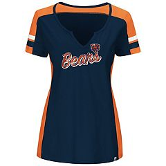 Plus Size Majestic Chicago Bears Notched Tee