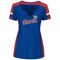 Plus Size Majestic New York Giants Notched Tee