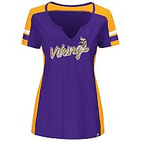 Plus Size Majestic Minnesota Vikings Notched Tee