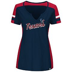 Plus Size Majestic Houston Texans Notched Tee